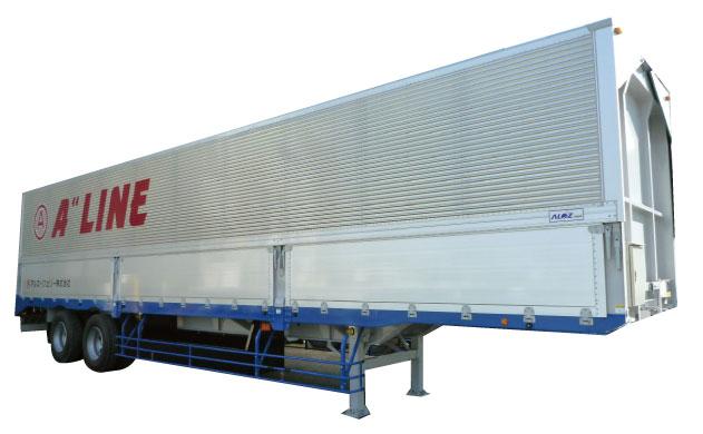 積載量:20.000kg 内寸 L:12,550 W:2,380  H:2,310